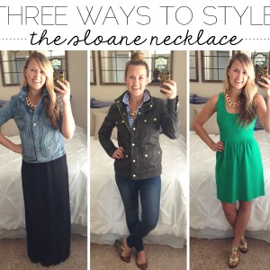 three ways to style: the sloane necklace // thoughts by natalie