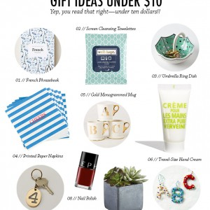 Gift Ideas Under $10 // thoughtsbynatalie.com