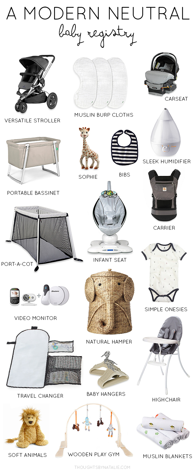 A Modern Neutral Baby Registry   Thoughts By Natalie