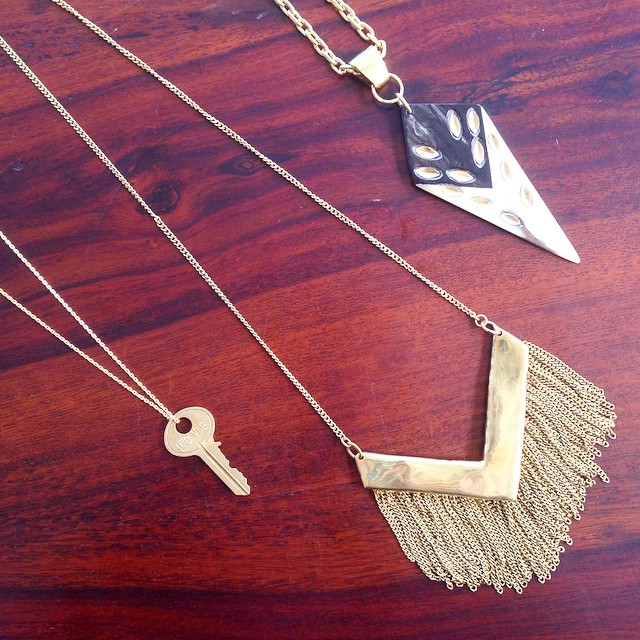 Three gorgeous necklaces. Which is your favorite? @givingkeys @shopsoko @ravenandlily